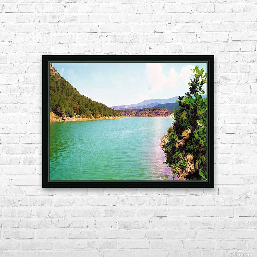 Utah Lake HD Sublimation Metal print with Decorating Float Frame (BOX)