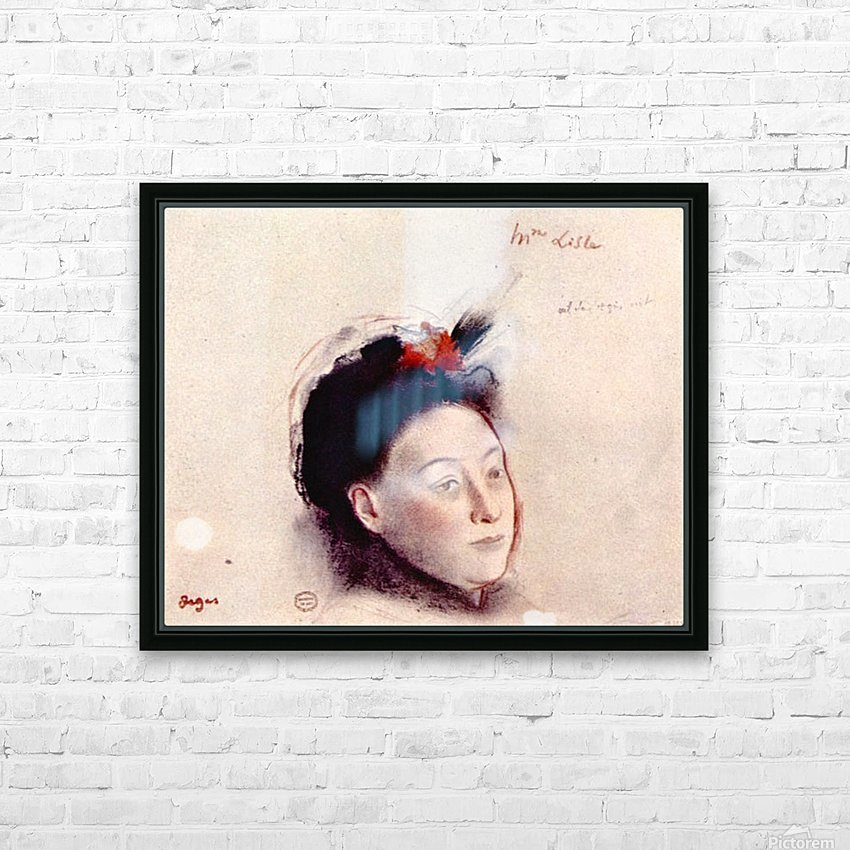 Portrait of Madame Lisle by Degas HD Sublimation Metal print with Decorating Float Frame (BOX)