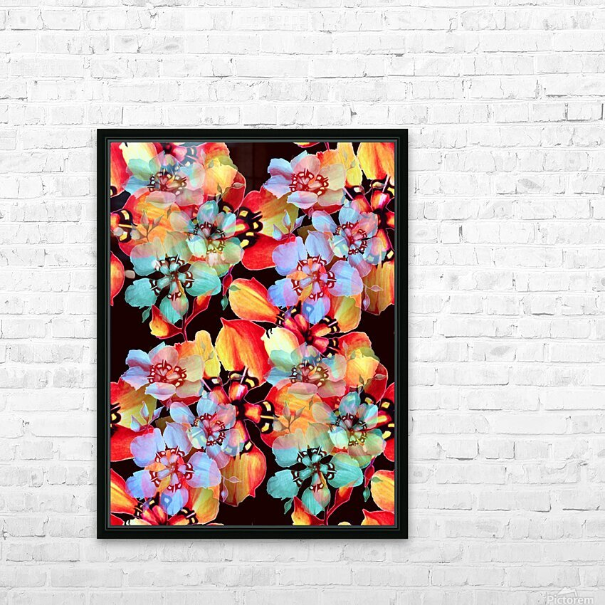 Harlequin Flowers in Watercolor HD Sublimation Metal print with Decorating Float Frame (BOX)
