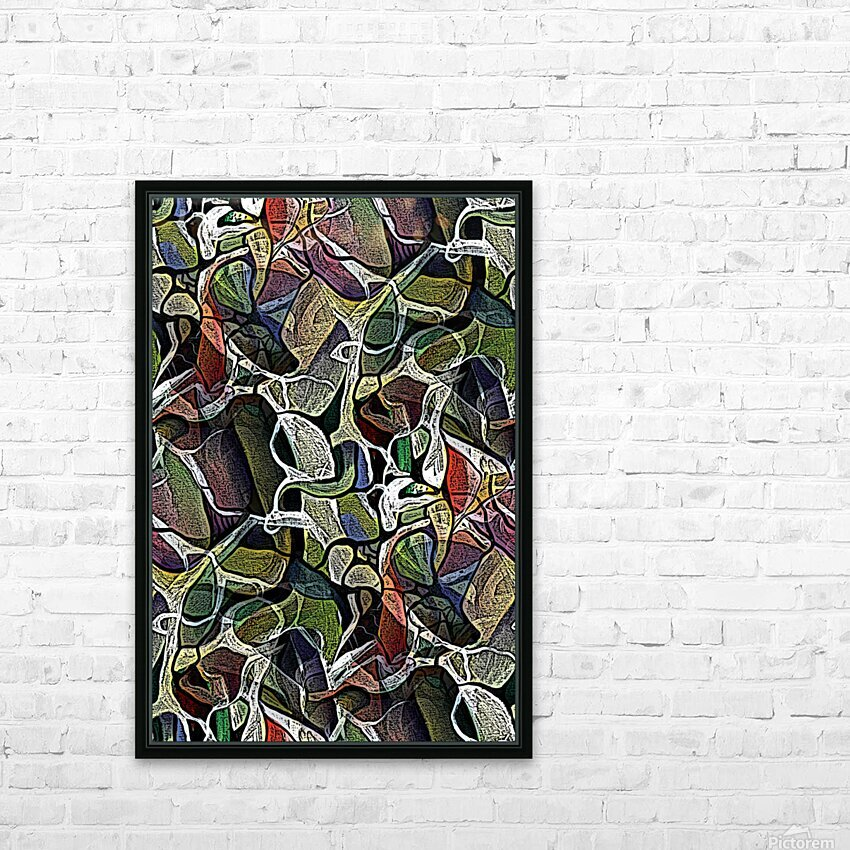Linear Geometric Abstract  HD Sublimation Metal print with Decorating Float Frame (BOX)