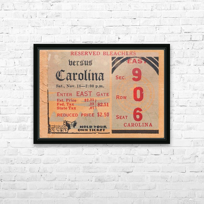 1939 North Carolina vs. Duke HD Sublimation Metal print with Decorating Float Frame (BOX)