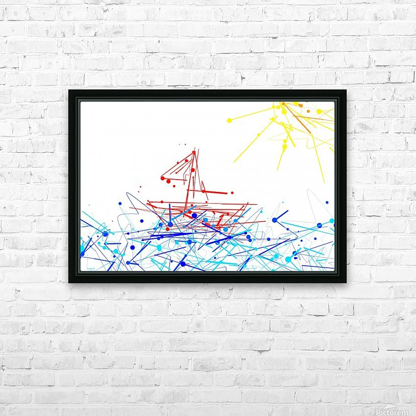 the red boat HD Sublimation Metal print with Decorating Float Frame (BOX)