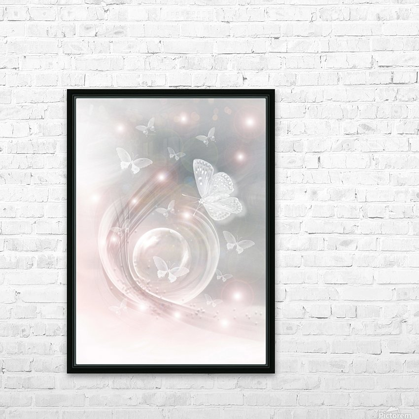 magical dream world of butterflies HD Sublimation Metal print with Decorating Float Frame (BOX)