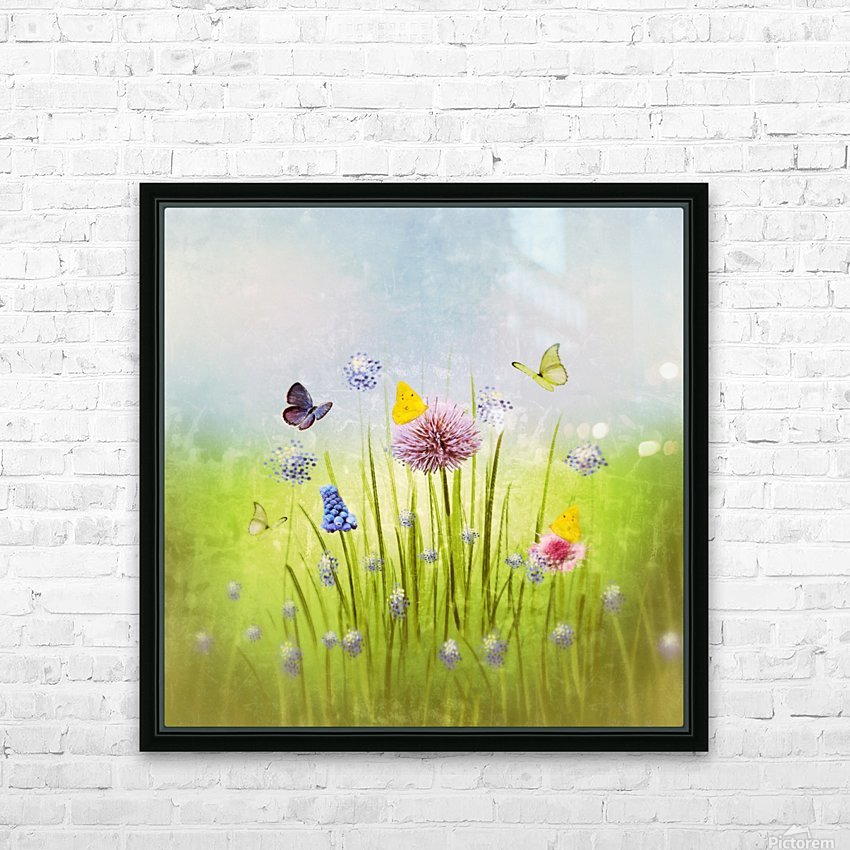 Spring meadow HD Sublimation Metal print with Decorating Float Frame (BOX)