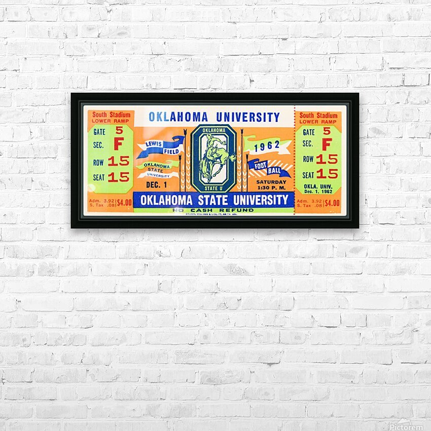 1962 Oklahoma vs. Oklahoma State HD Sublimation Metal print with Decorating Float Frame (BOX)