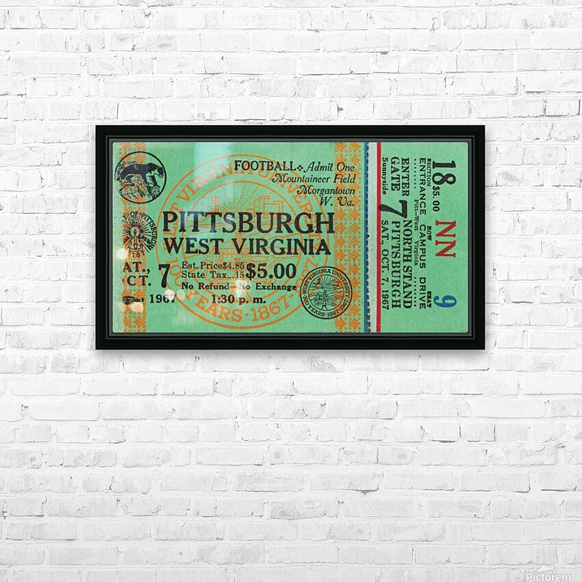 1967 West Virginia vs. Pitt HD Sublimation Metal print with Decorating Float Frame (BOX)