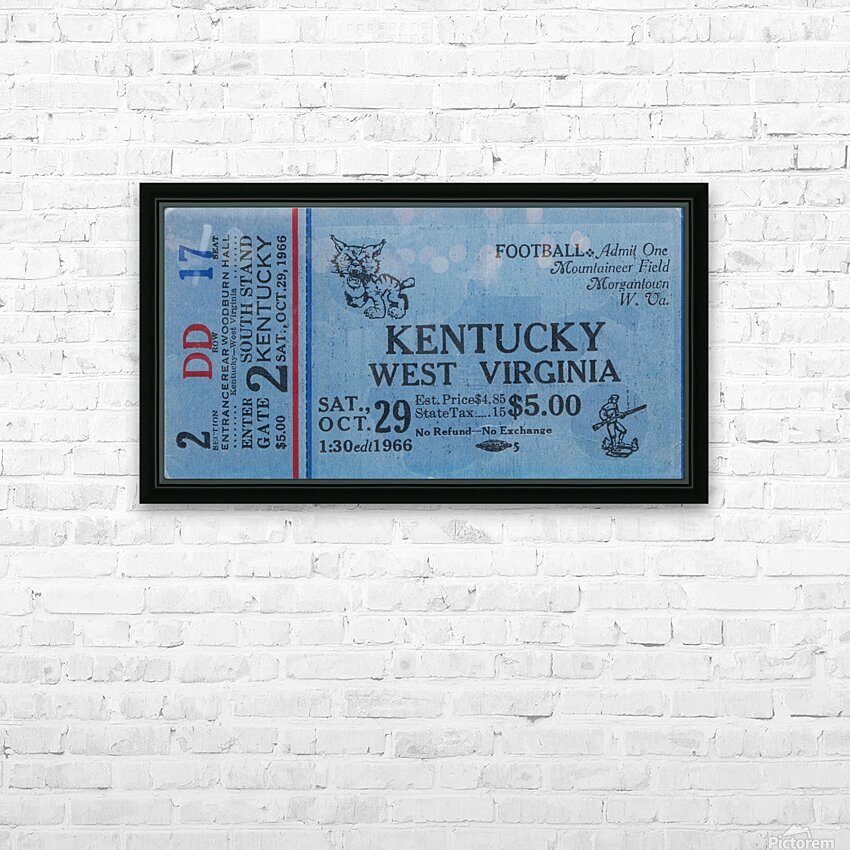 1967 Kentucky vs. West Virginia HD Sublimation Metal print with Decorating Float Frame (BOX)