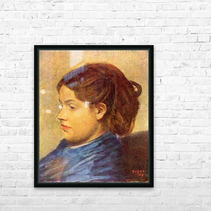 Portrait of Mademoiselle Dobigny by Degas HD Sublimation Metal print with Decorating Float Frame (BOX)