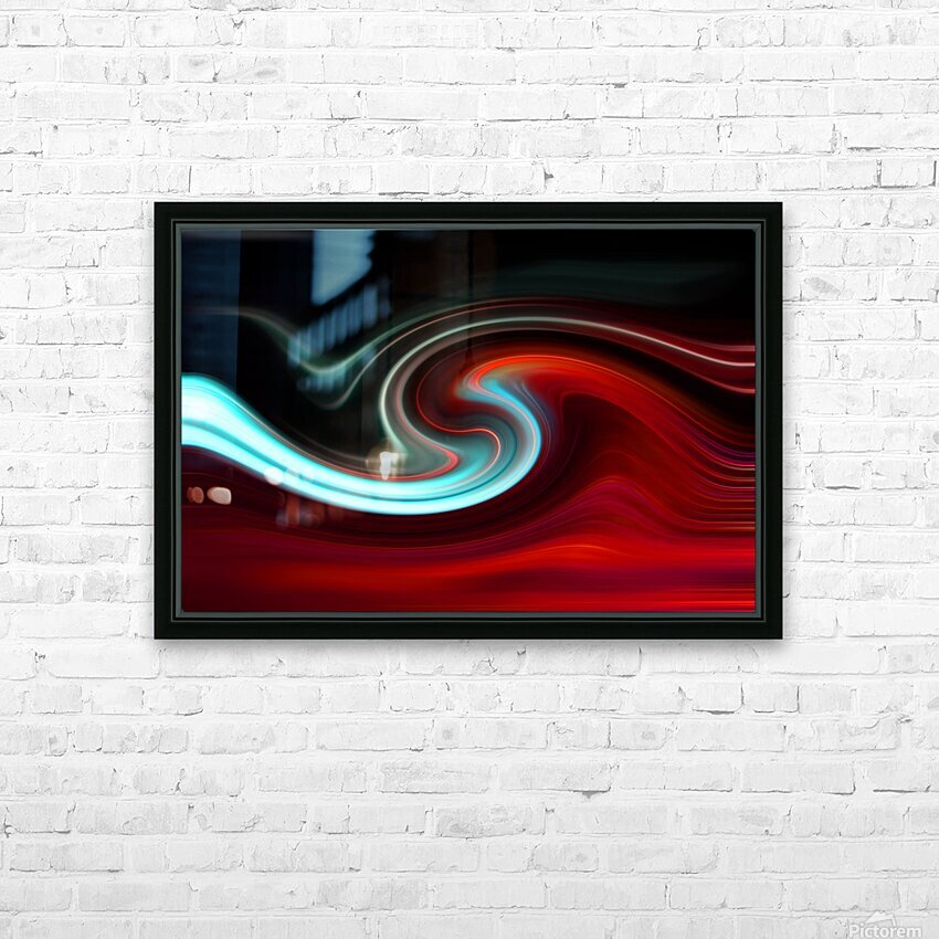 LAVA WAVE 2 HD Sublimation Metal print with Decorating Float Frame (BOX)