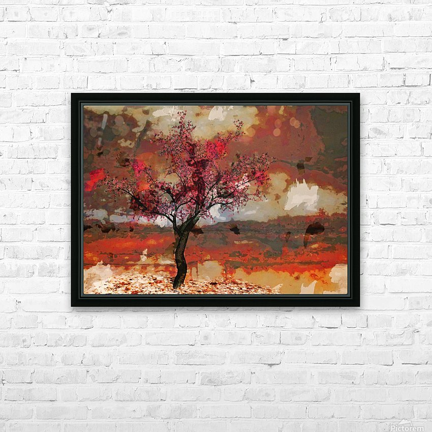 Summer cherry tree HD Sublimation Metal print with Decorating Float Frame (BOX)