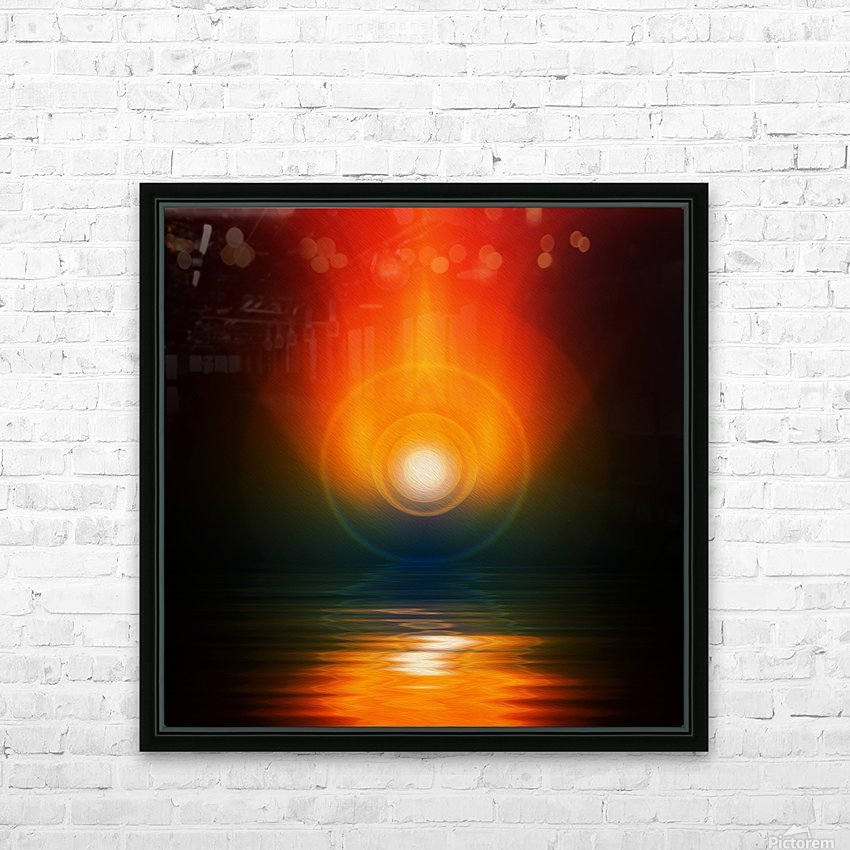 Life energy HD Sublimation Metal print with Decorating Float Frame (BOX)