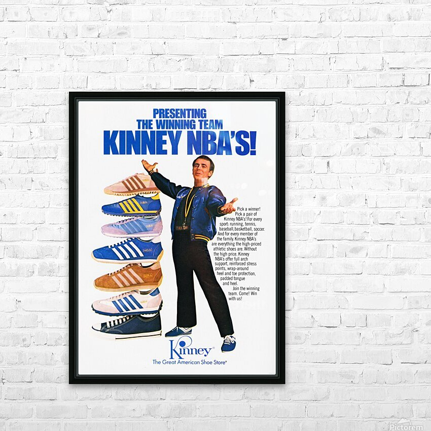 1979 Kinney NBA Shoes Ad HD Sublimation Metal print with Decorating Float Frame (BOX)