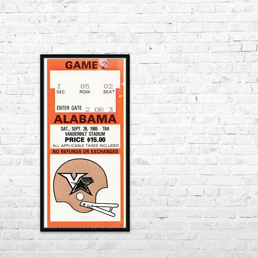 1985 Alabama vs. Vanderbilt HD Sublimation Metal print with Decorating Float Frame (BOX)