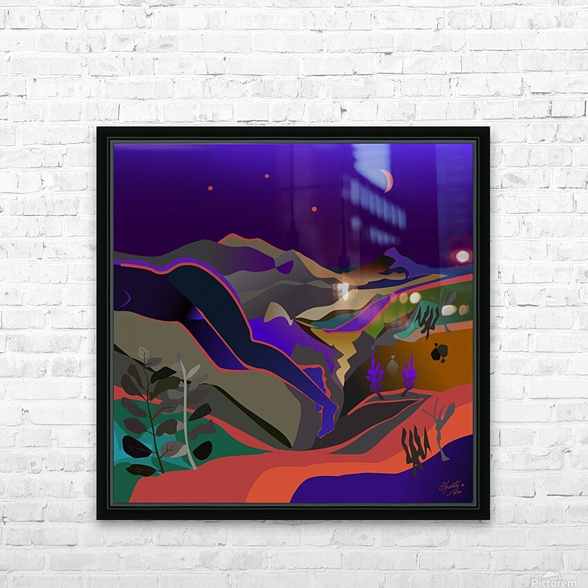 Dreaming at Lookout Mountain HD Sublimation Metal print with Decorating Float Frame (BOX)