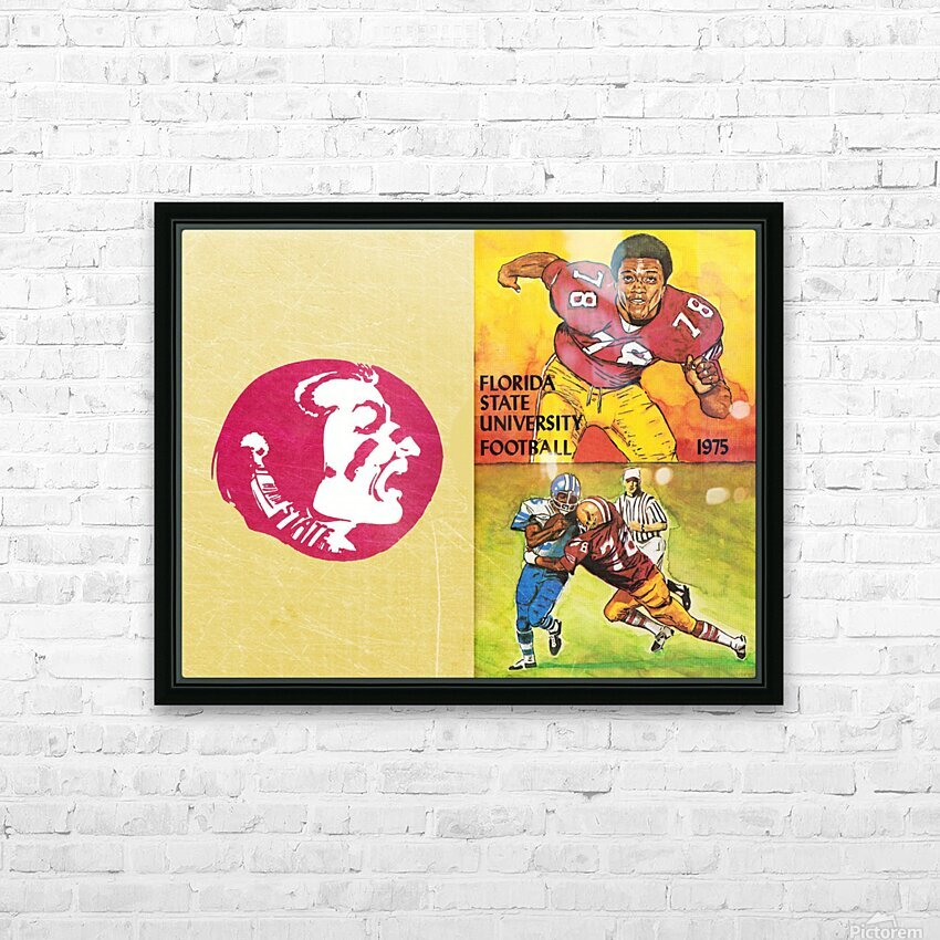 1975 Florida State Football Art HD Sublimation Metal print with Decorating Float Frame (BOX)