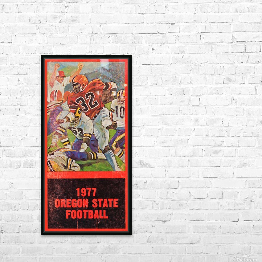 1977 Oregon State Football Art HD Sublimation Metal print with Decorating Float Frame (BOX)