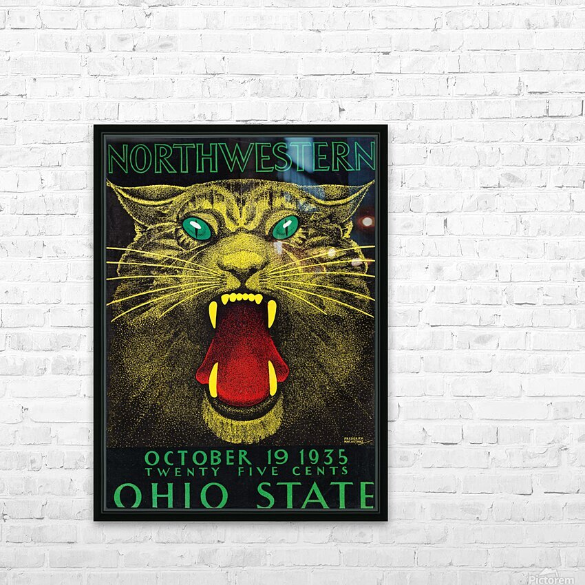 1935 Northwestern vs. Ohio State HD Sublimation Metal print with Decorating Float Frame (BOX)