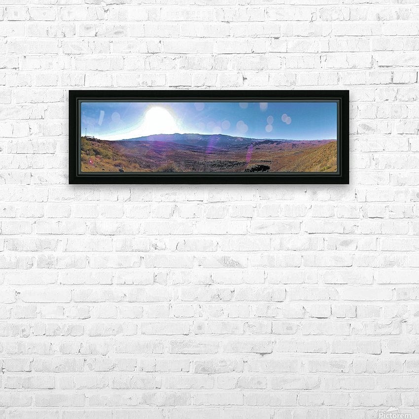 Sunset Point Sun HD Sublimation Metal print with Decorating Float Frame (BOX)