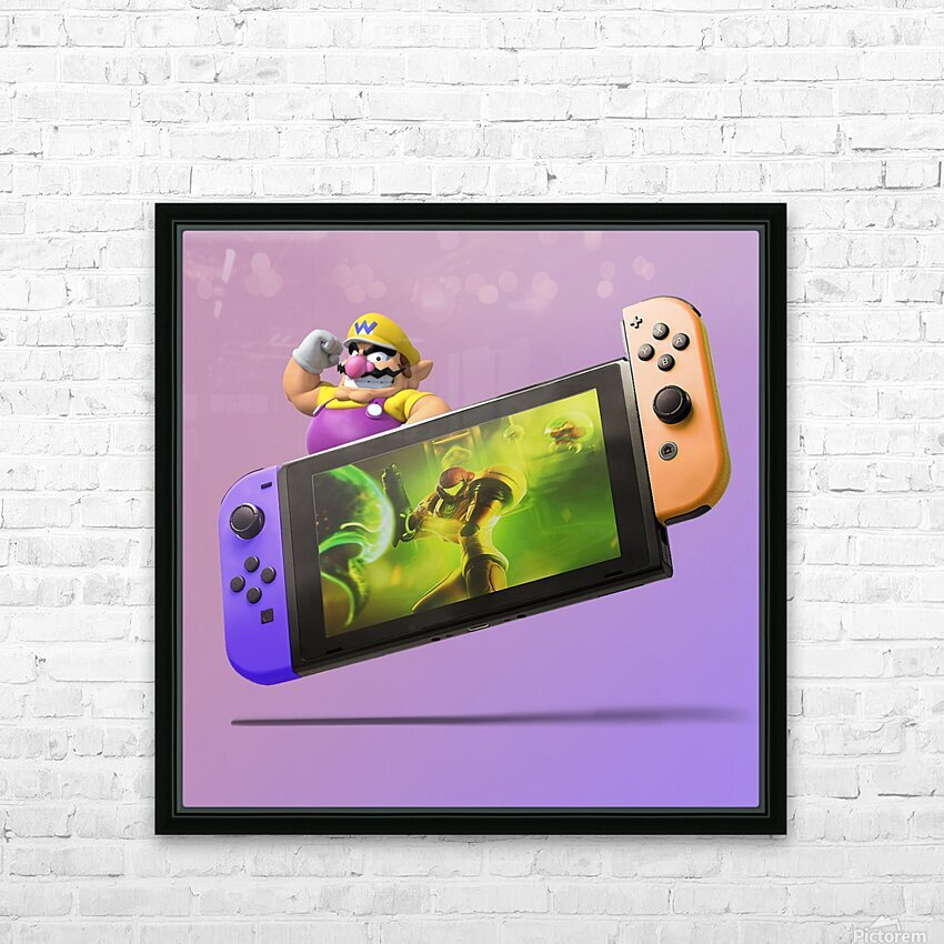 Nintendo Switch Wario HD Sublimation Metal print with Decorating Float Frame (BOX)