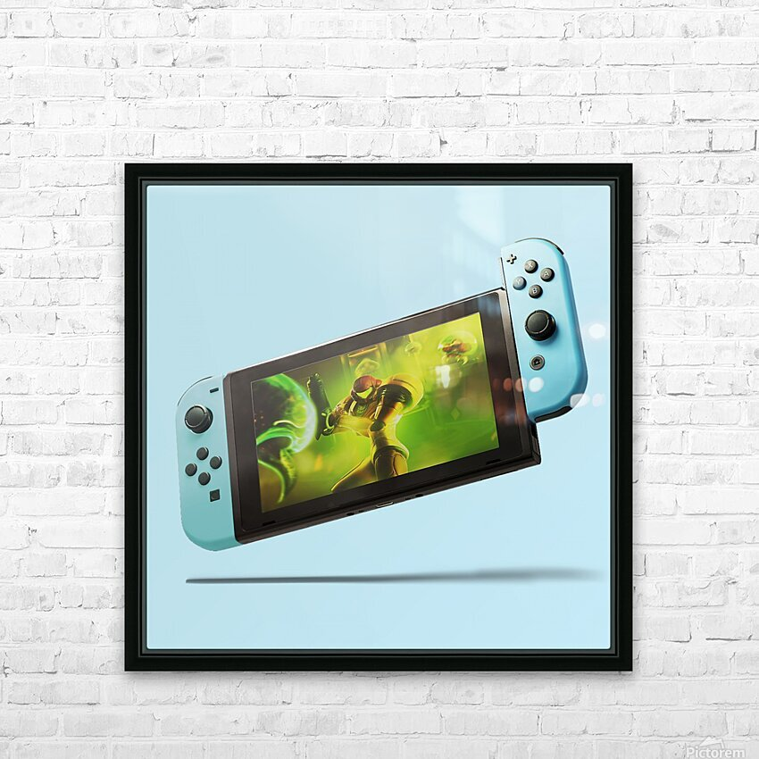 Nintendo Switch Blue HD Sublimation Metal print with Decorating Float Frame (BOX)