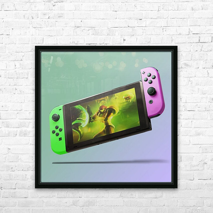 Nintendo Switch Green Pink HD Sublimation Metal print with Decorating Float Frame (BOX)