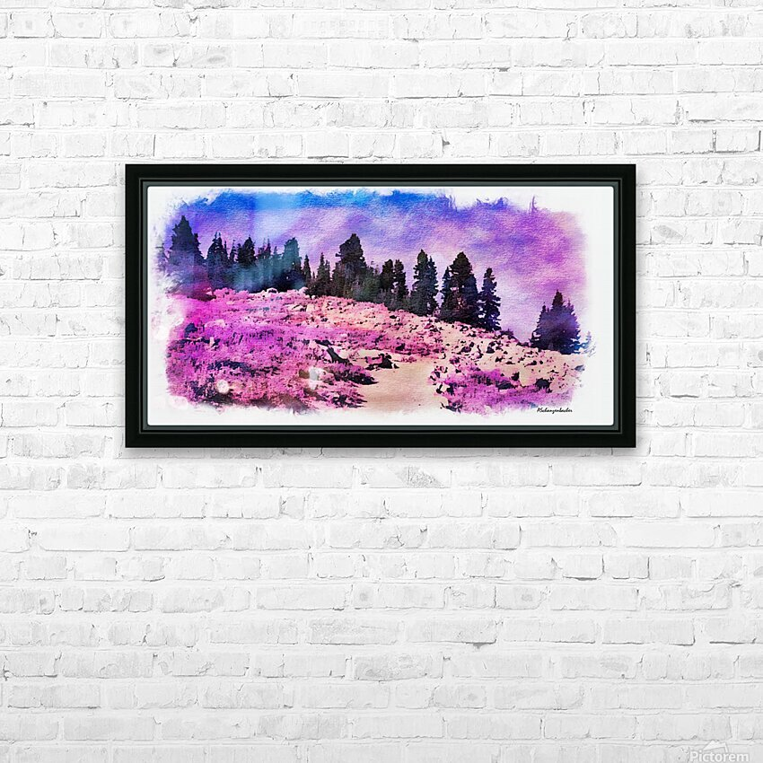 Lavender Field HD Sublimation Metal print with Decorating Float Frame (BOX)