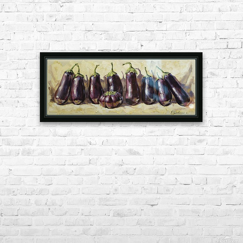 Eggplant HD Sublimation Metal print with Decorating Float Frame (BOX)