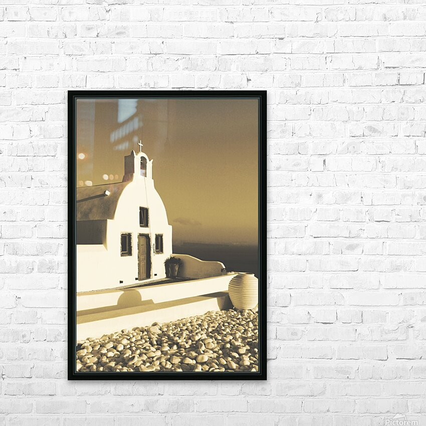 The Small Chapel HD Sublimation Metal print with Decorating Float Frame (BOX)