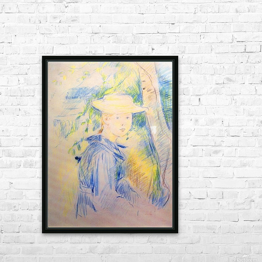 Portrait of Paule Gobillard by Morisot HD Sublimation Metal print with Decorating Float Frame (BOX)