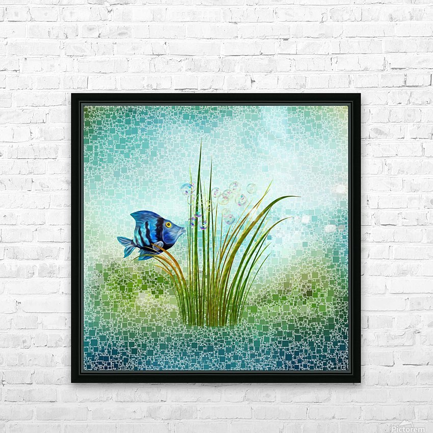 Billy the fish HD Sublimation Metal print with Decorating Float Frame (BOX)