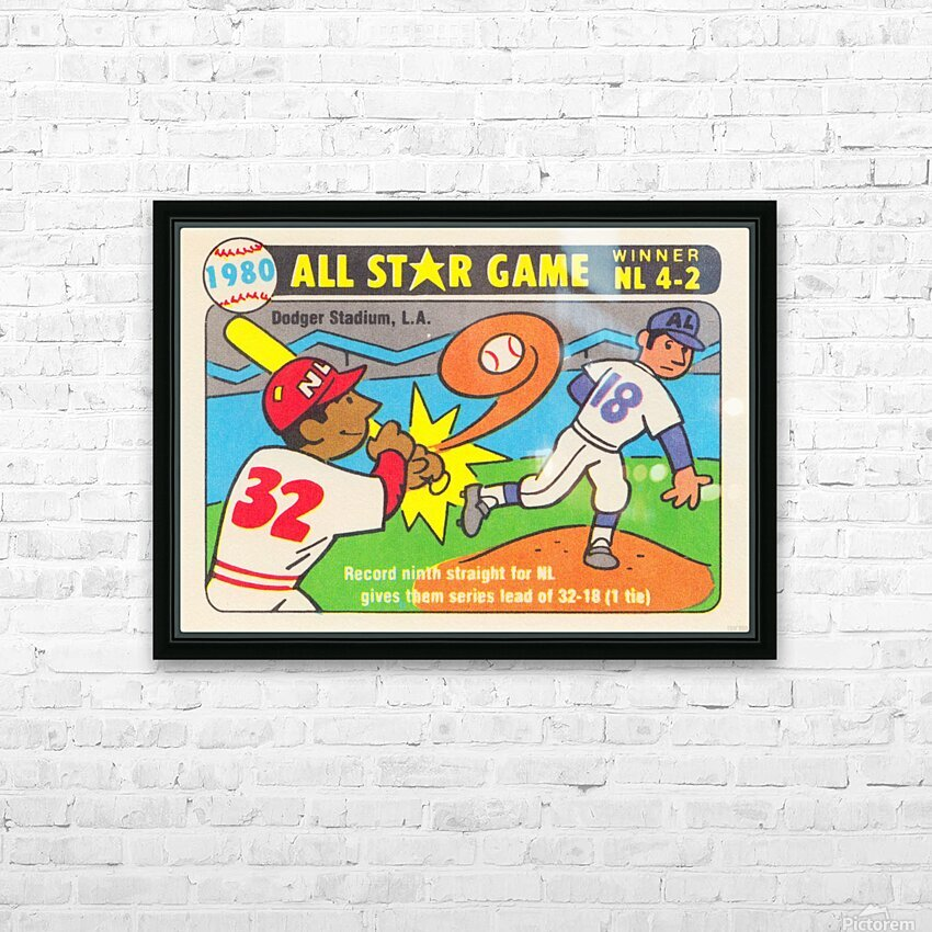 1980 Baseball All Star Game Art HD Sublimation Metal print with Decorating Float Frame (BOX)