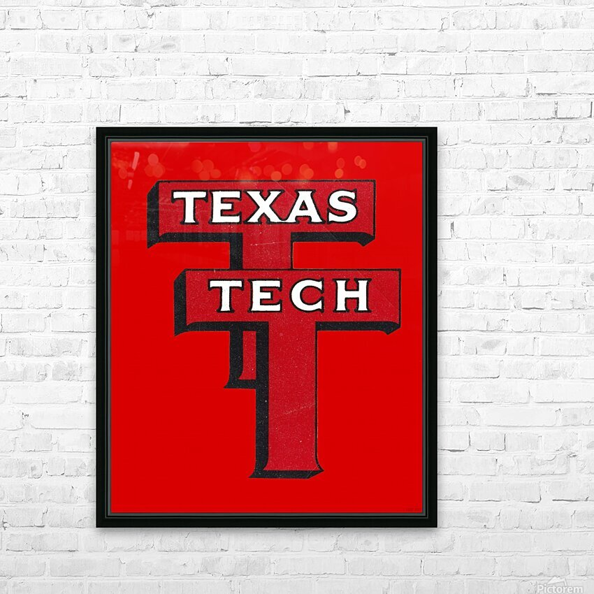 1948 Texas Tech Art HD Sublimation Metal print with Decorating Float Frame (BOX)