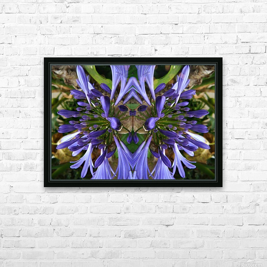 flower3 HD Sublimation Metal print with Decorating Float Frame (BOX)