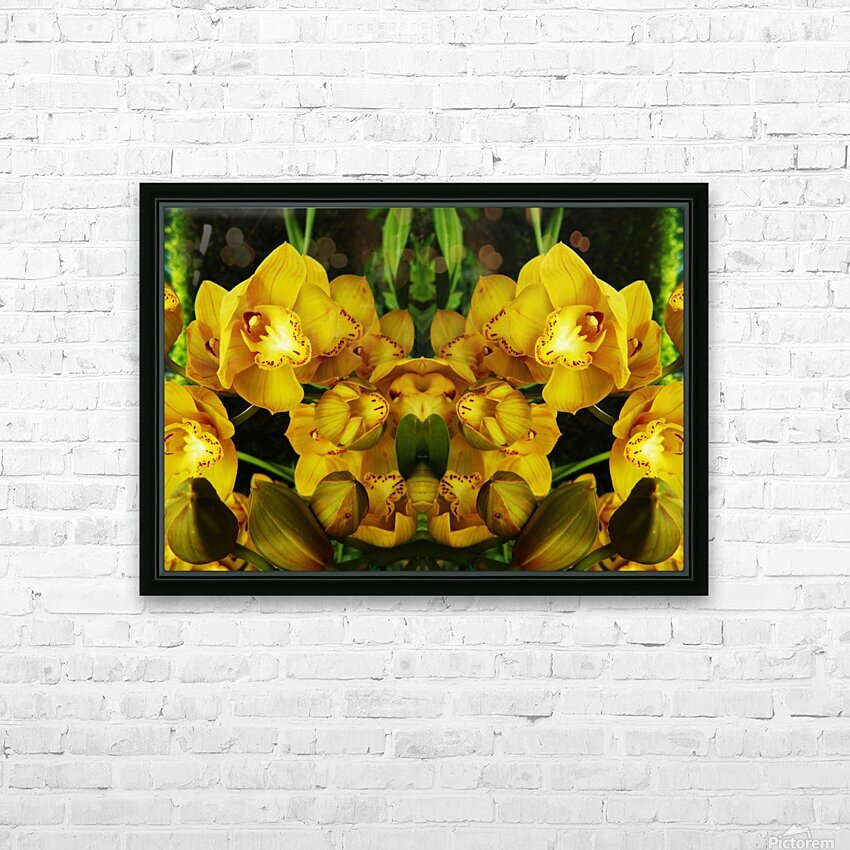 flower65 HD Sublimation Metal print with Decorating Float Frame (BOX)