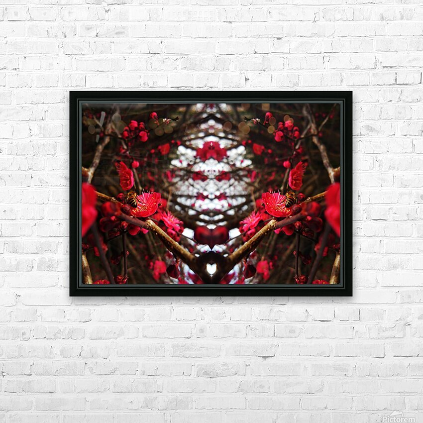 flower83 HD Sublimation Metal print with Decorating Float Frame (BOX)