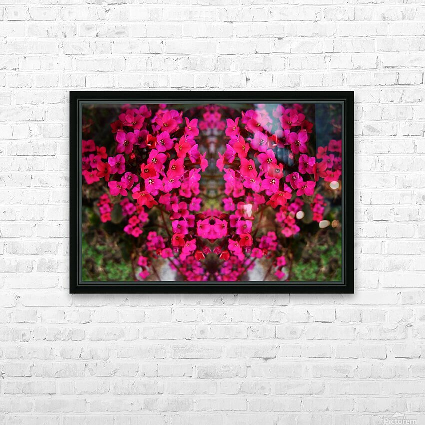 flower29 HD Sublimation Metal print with Decorating Float Frame (BOX)