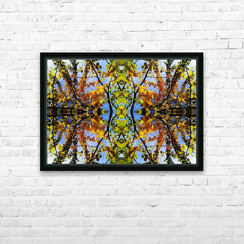 flower43 HD Sublimation Metal print with Decorating Float Frame (BOX)