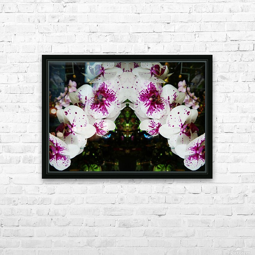 flower63 HD Sublimation Metal print with Decorating Float Frame (BOX)