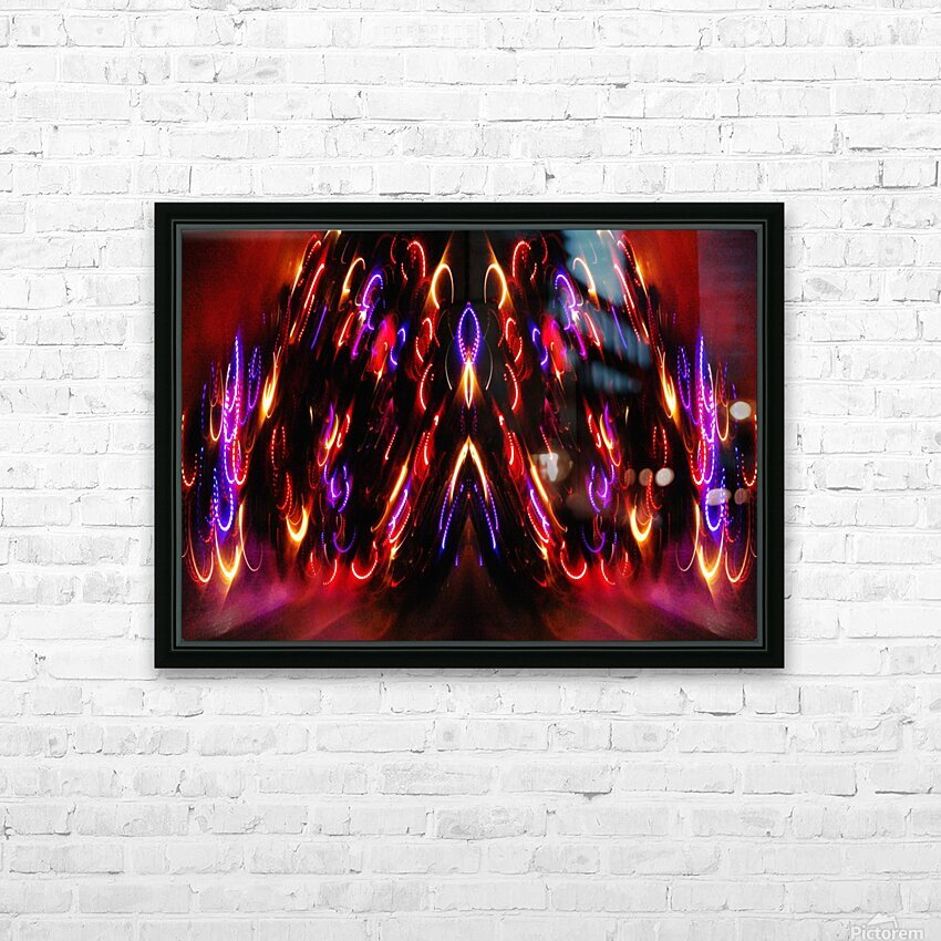 Lights15 HD Sublimation Metal print with Decorating Float Frame (BOX)