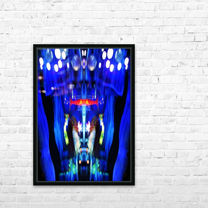 Lights11 HD Sublimation Metal print with Decorating Float Frame (BOX)