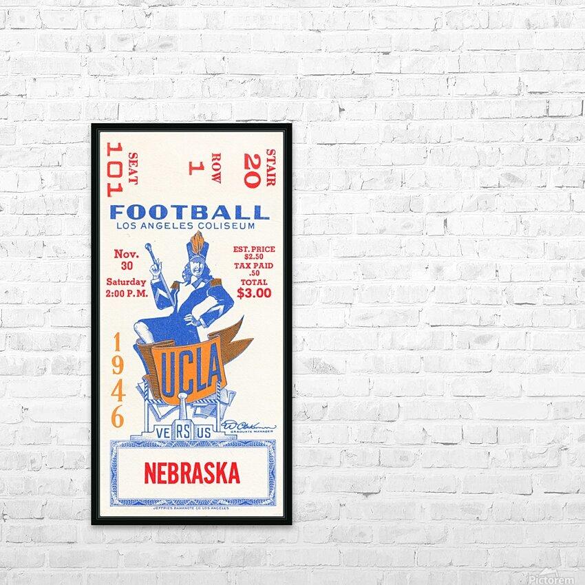 1946 UCLA vs. Nebraska HD Sublimation Metal print with Decorating Float Frame (BOX)