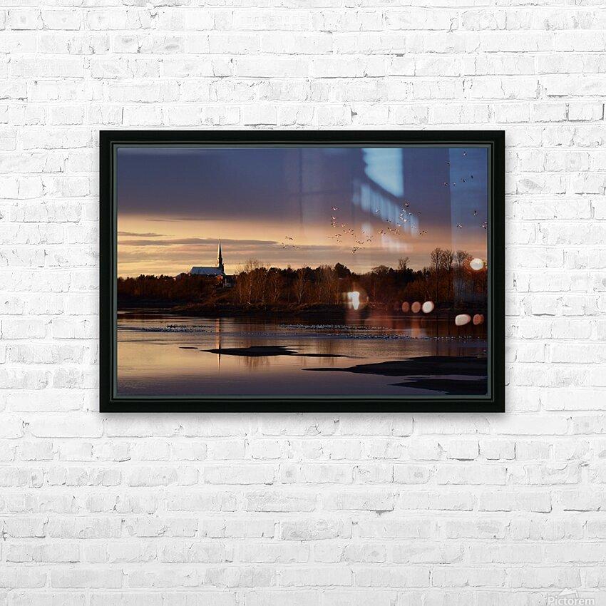 Officiellement le printemps HD Sublimation Metal print with Decorating Float Frame (BOX)