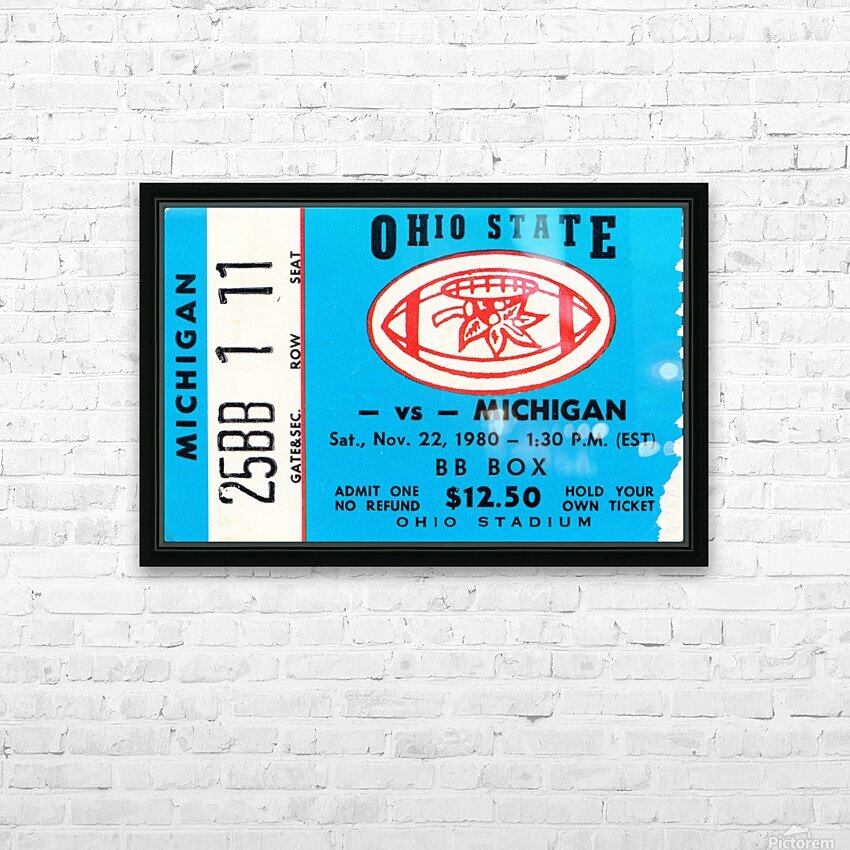 1980 Ohio State vs. Michigan HD Sublimation Metal print with Decorating Float Frame (BOX)