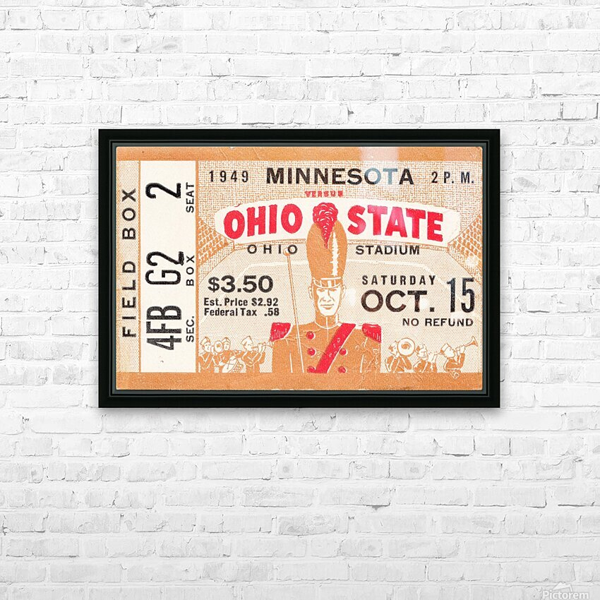 1949 Ohio State vs. Minnesota HD Sublimation Metal print with Decorating Float Frame (BOX)