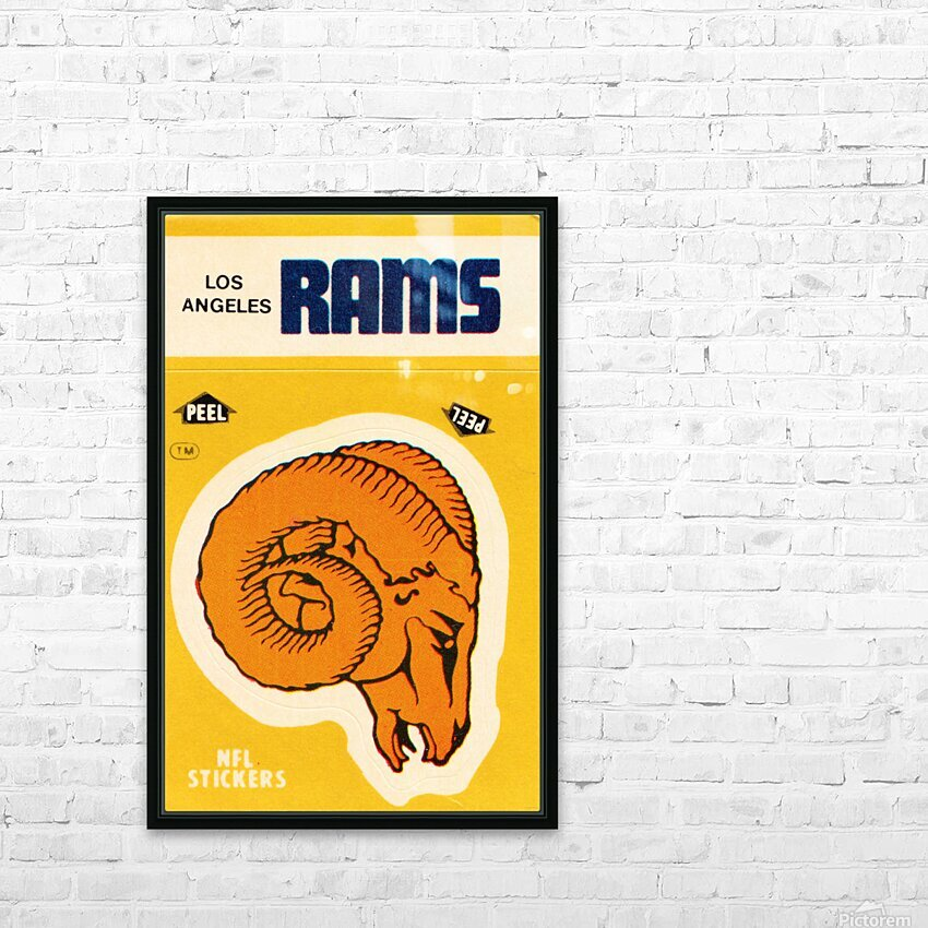1982 Los Angeles Rams Fleer Sticker Print HD Sublimation Metal print with Decorating Float Frame (BOX)