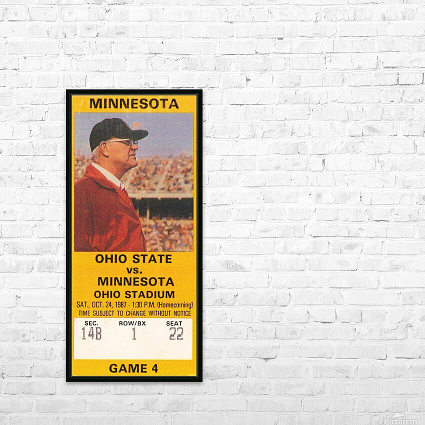 1987 Ohio State vs. Minnesota HD Sublimation Metal print with Decorating Float Frame (BOX)