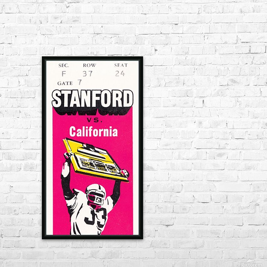 1979 California vs. Stanford HD Sublimation Metal print with Decorating Float Frame (BOX)