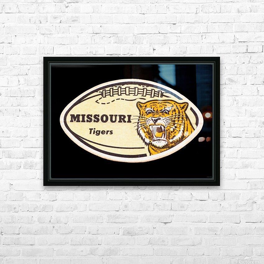 1965 Missouri Tiger Football Art HD Sublimation Metal print with Decorating Float Frame (BOX)