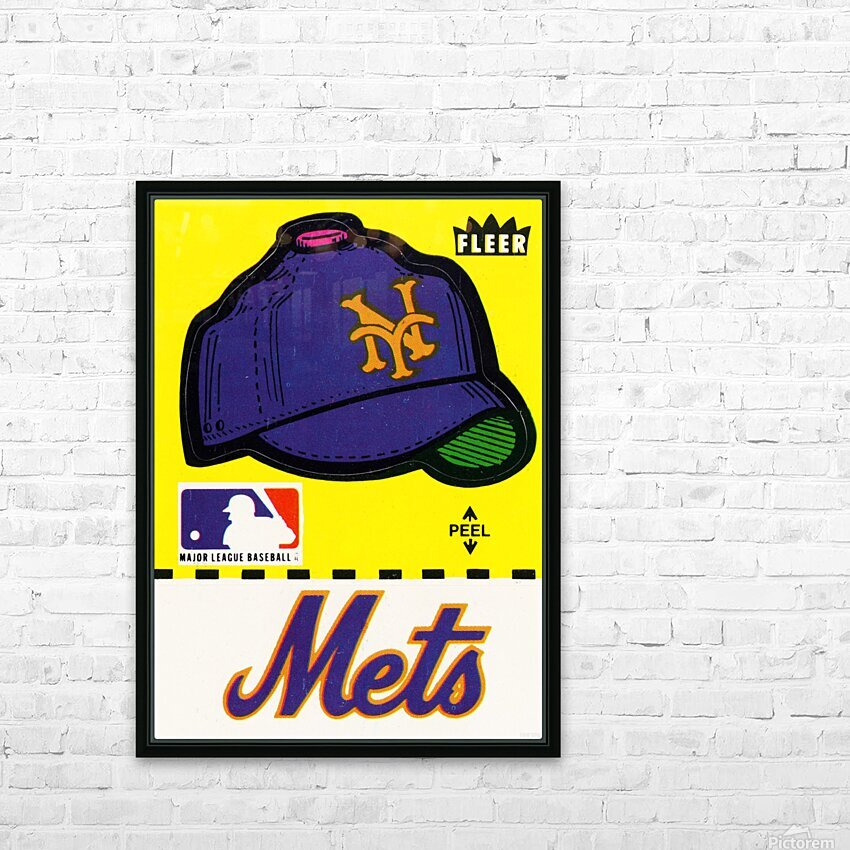 1981 New York Mets Fleer Decal Art HD Sublimation Metal print with Decorating Float Frame (BOX)
