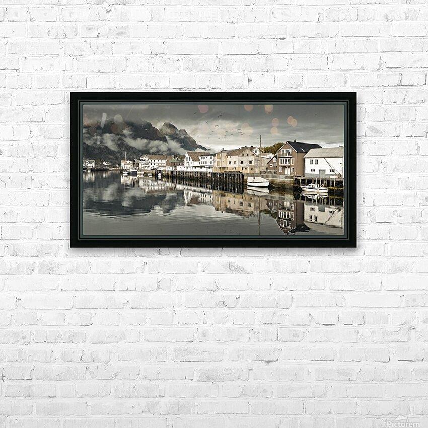 Fishing village, Lofoten, Norway HD Sublimation Metal print with Decorating Float Frame (BOX)